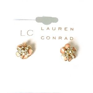 Lauren Conrad Flower w/pave Crystal centers